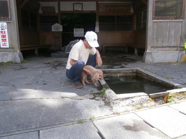 福島県会津若松市の強清水